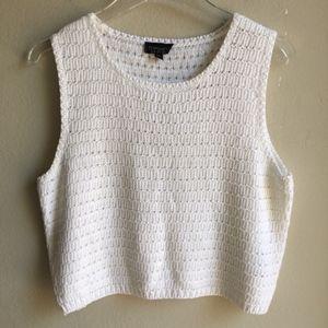 Topshop Crochet Knit Sleeveless Crop Top Size 8